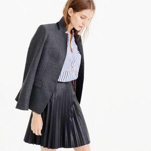 J Crew faux leather pleated mini skirt